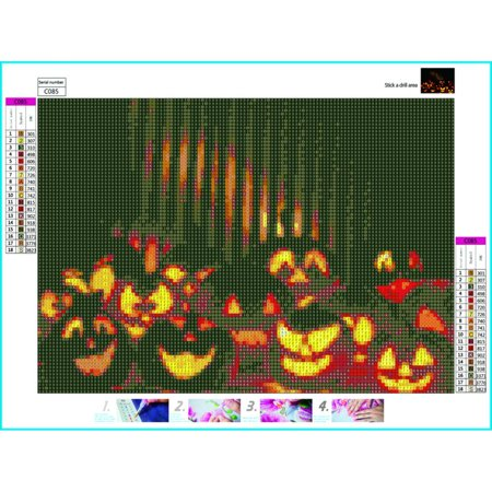 Halloween theme night diamond painting Halloween frameless 8D DIY