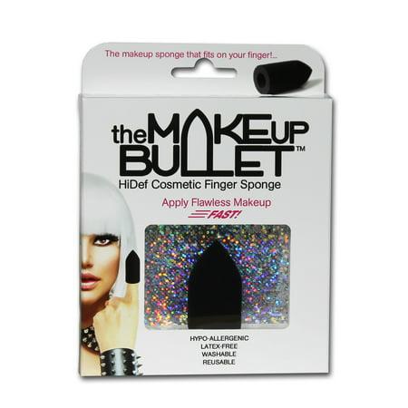The Makeup Bullet Finger Sponge (Black) - The Most Versatile Makeup Sponge  Washable Reusable Used Wet or Dry Latex-Free (Halloween Makeup Bullet Hole)