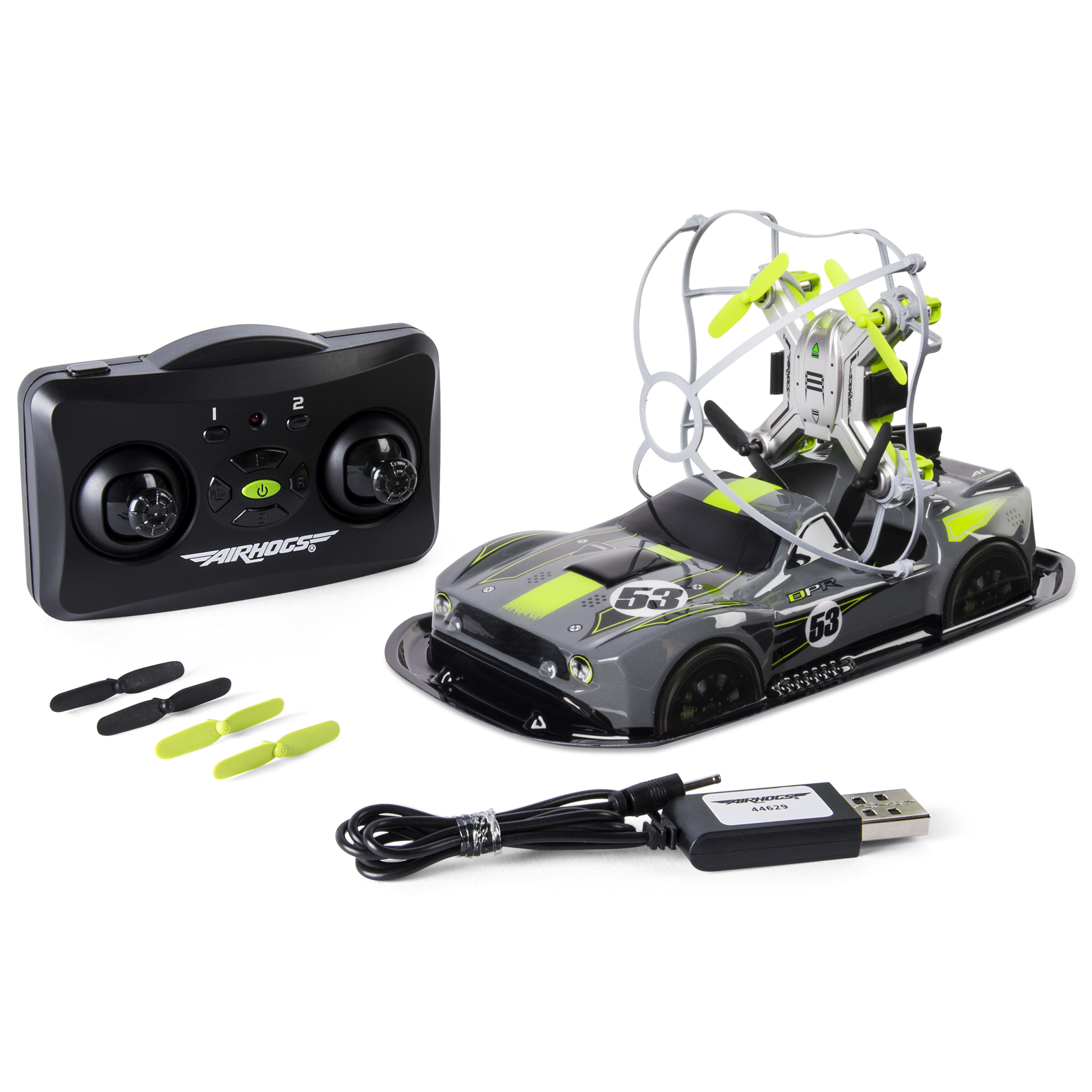 Air Hogs - 2-in-1 Drone Power Racers for Driving and Flying - Muscle Car