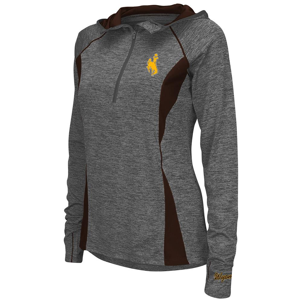 Womens Wyoming Cowboys Quarter Zip Wind Shirt - L