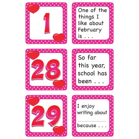 FEBRUARY POLKA DOTS CALENDAR DAYS STORY STARTERS