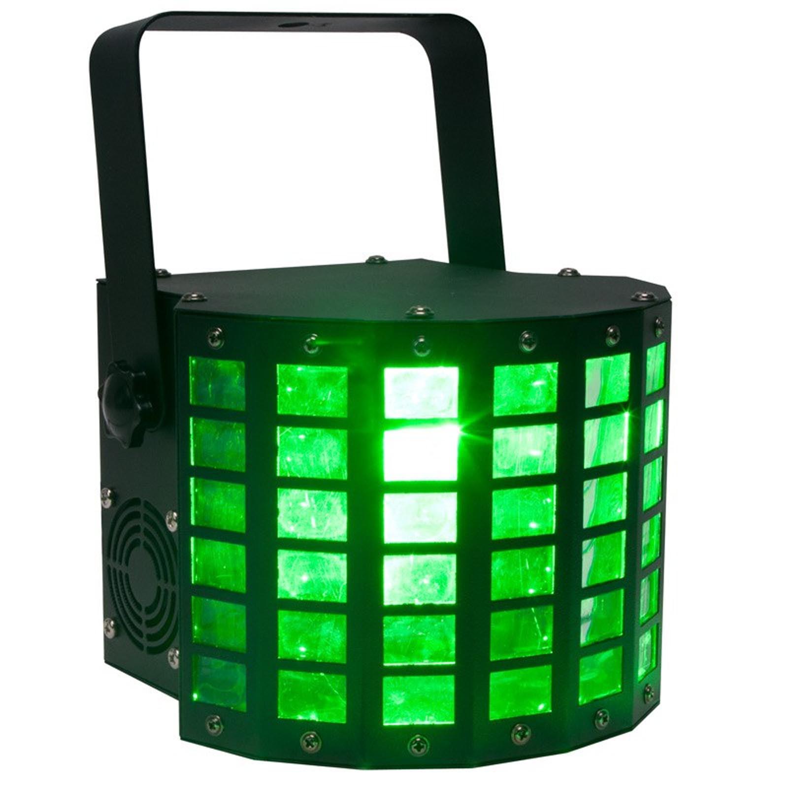 American DJ Mini Dekker DMX RGBW LED Strobe Kinta Derby Moonflower Light Effect