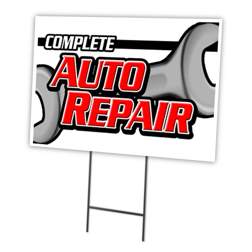 """AIR CONDITIONING REPAIR & SERVICE 12""""x16"""" Yard Sign & Stake outdoor plastic coroplast window"""
