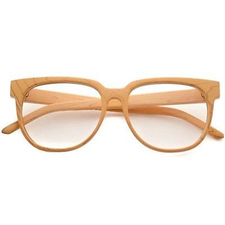 WearMe Pro - Wood Print Flat Top Glasses Hipster Fashion Clear Lens ...
