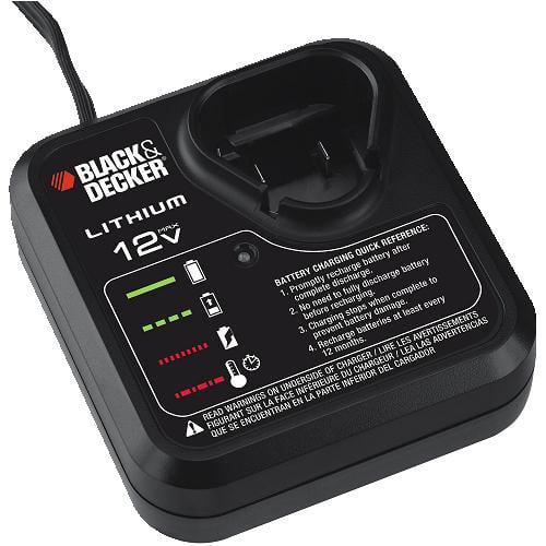 Black & Decker 12V Lithium Charger for LBX12 Battery # 90...