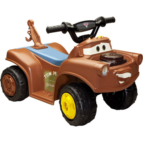 Disney Cars 2 Mater 6-Volt Battery-Powered Ride-on Quad