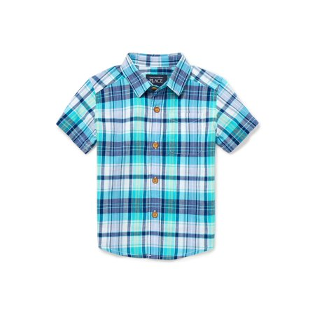 The Children's Place Plaid Woven Shirt (Toddler Boys) - Boys In Plaid