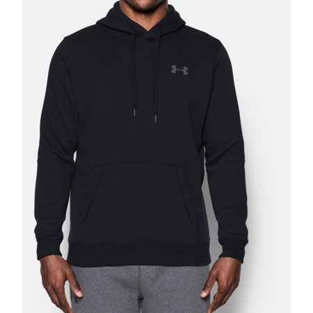 Hokies Under Armour - Under Armour Men's Rival Fleece Fitted Hoodie Black/Graphite S