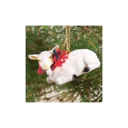White Goat Christmas Ornament GO15