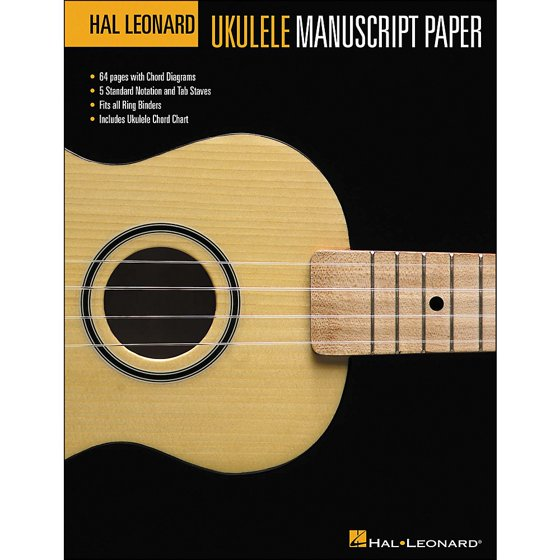 Hal Leonard Ukulele Manuscript Paper Walmart