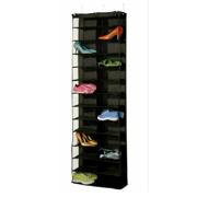 Over The Door Shoe Rack fr 26 Pocket Wall Hanging Closet Organizer Storage Stand Black