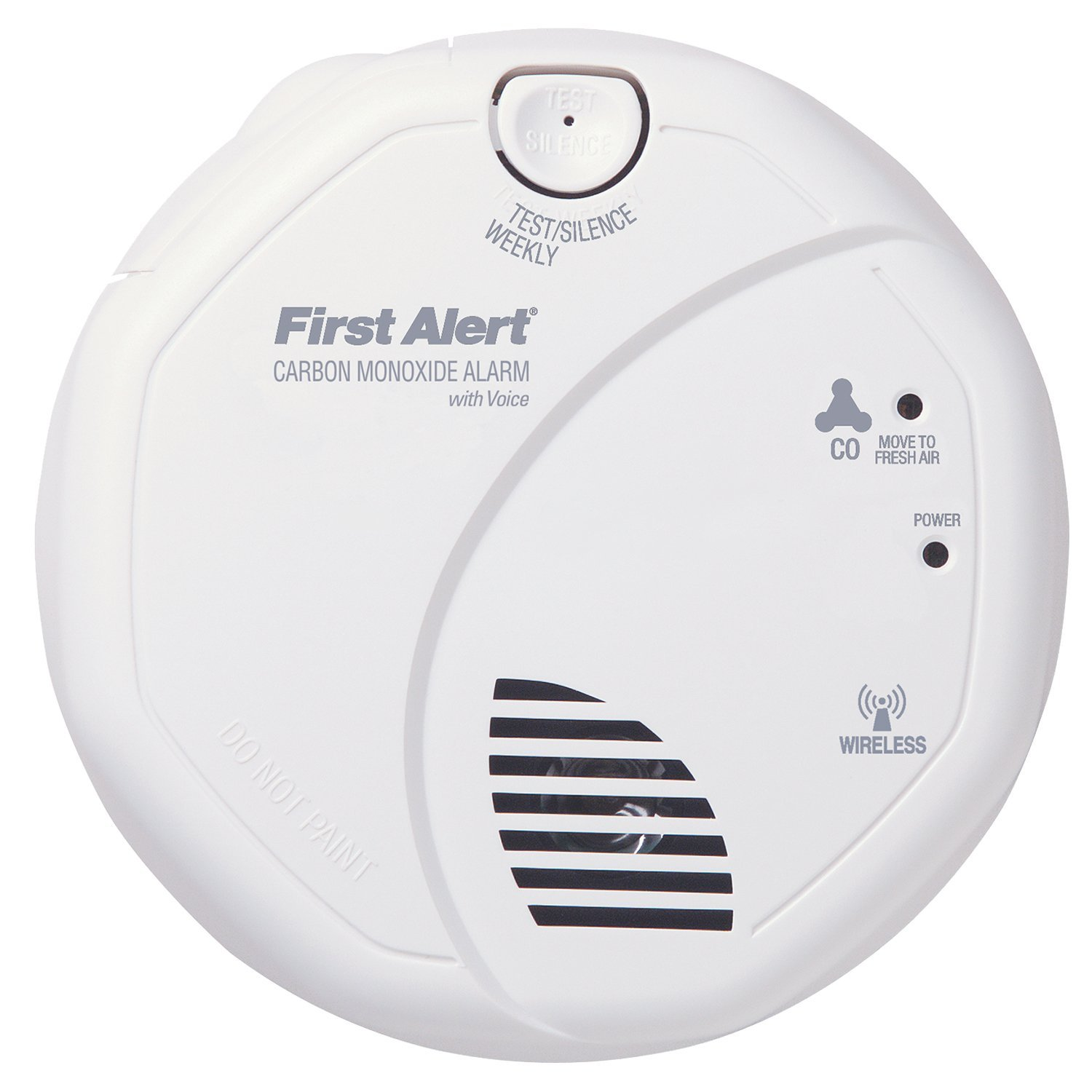 CO511B Wireless Interconnect Carbon Monoxide Detector with Voice Alarm, Wireless connection so when... by