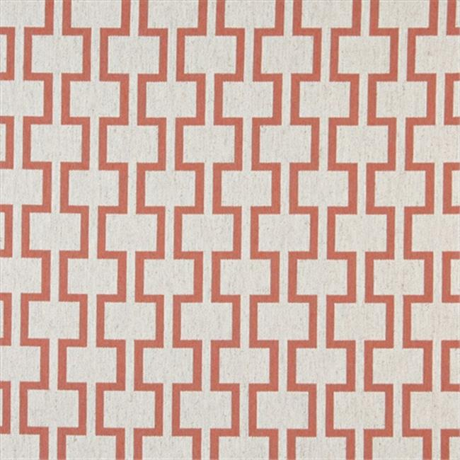 Designer Fabrics K0002C 54 in. Wide Persimmon And Off White, Modern, Geometric Designer Quality Upholstery Fabric