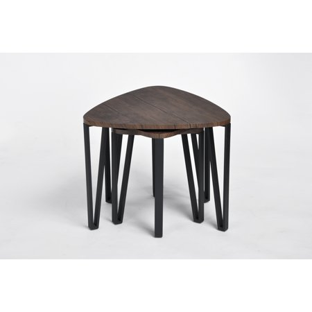 Furniture R Side Table Set of 3,Three Various Size Triangle End Coffee Tables for Living Room Office Décor - image 7 of 8
