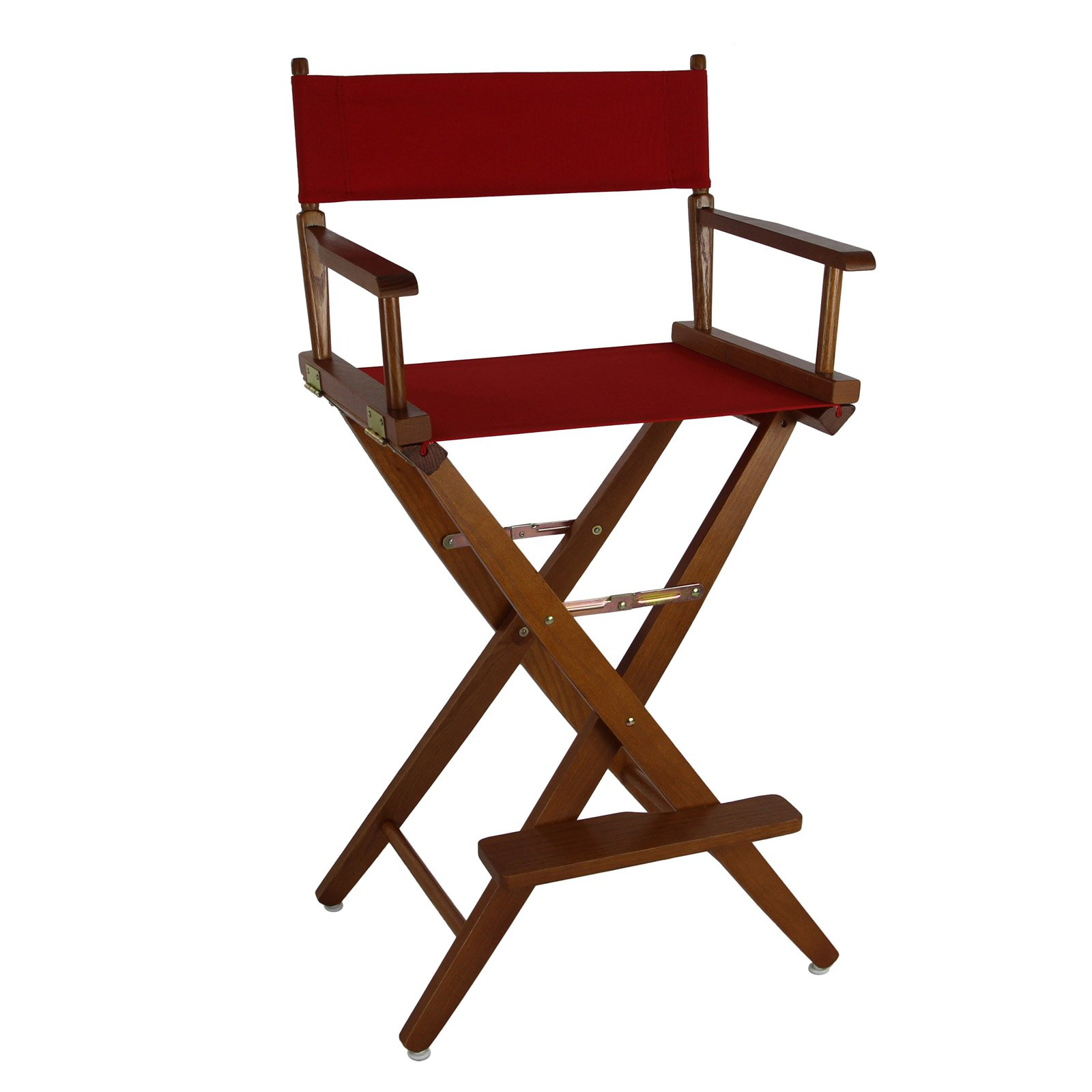 Extra Wide Premium 30 Directors Chair Natural Frame W Navy Color Cover