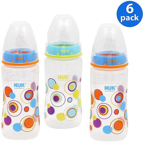 NUK/ Gerber - 10oz Bottle Gift Set, 6-pack, Blue Dots
