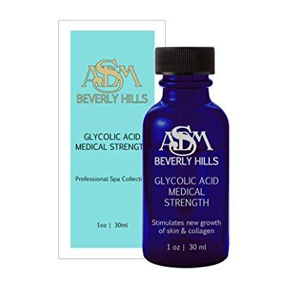 ASDM Beverly Hills 40% Glycolic Acid Peel- 1 Ounce- Anti-Aging Treatment for Wrinkles, Acne Scars, Blackheads, Fine Lines, Oily Skin, and Dry Skin- Chemical Exfoliate Dissolves Dead Skin Cells