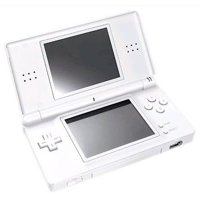 Refurbished Nintendo DS Lite Polar White Handheld Gaming Console w/ Stylus and Charger
