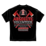 Absolute Volunteer Firefighter T-shirt by , Black