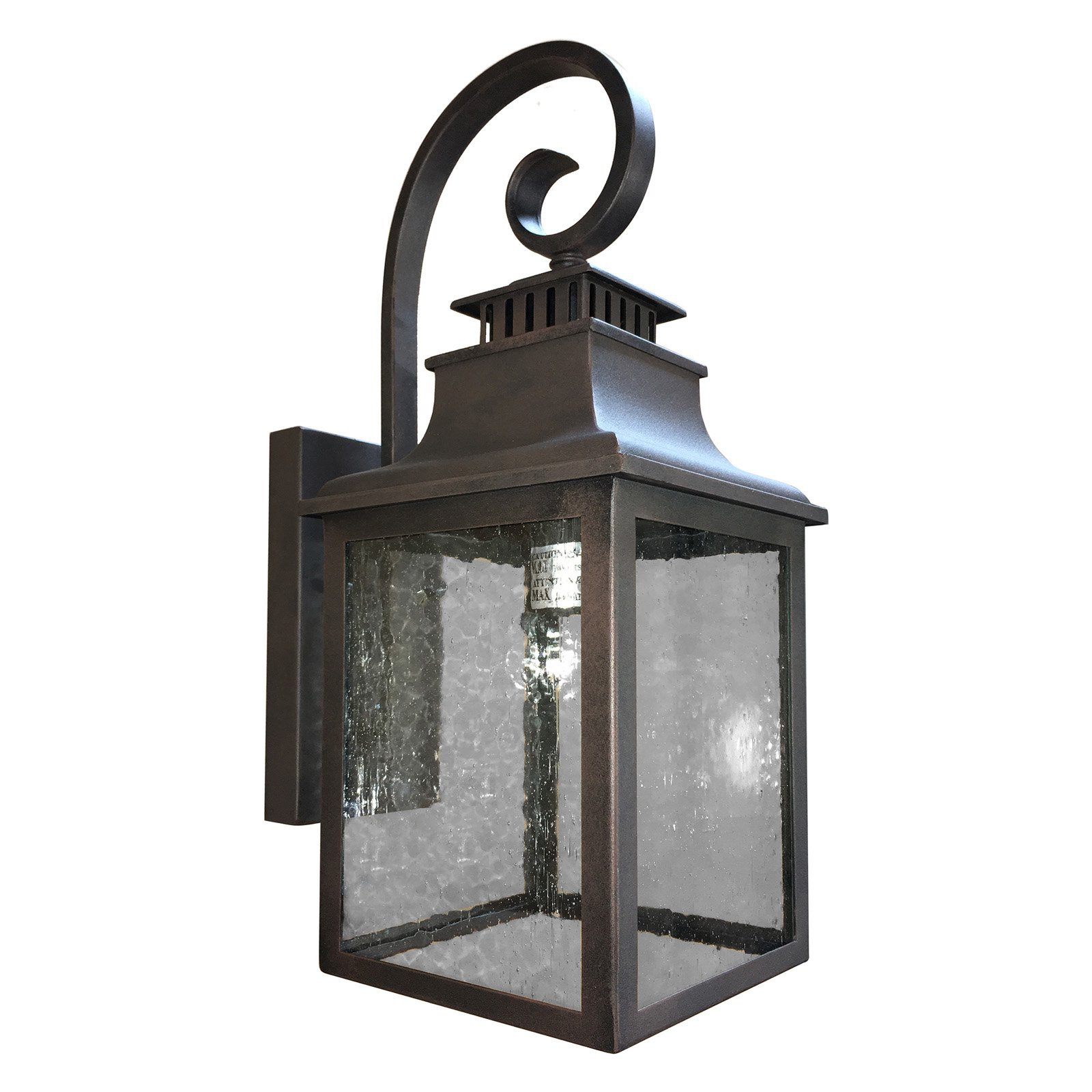 1 Light Outdoor Wall Mounted Lighting In Rustic Finish