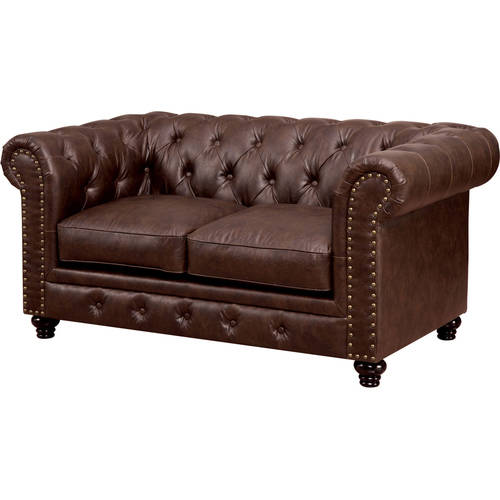 Furniture of America Nyssa Traditional Loveseat, Multiple Colors