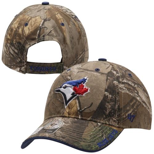 Toronto Blue Jays '47 Brand Frost Adjustable Hat - Realtree Camo - OSFA
