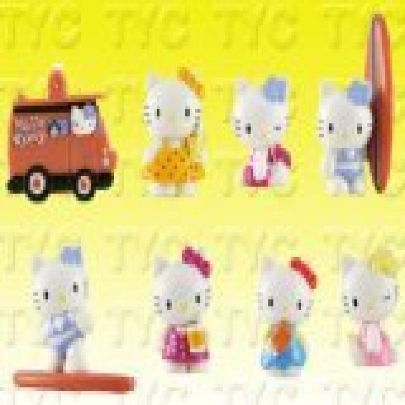 "Hello Kitty Charm Surf Figure Series 3 1"" Figure Collection Set (8 Set) by"
