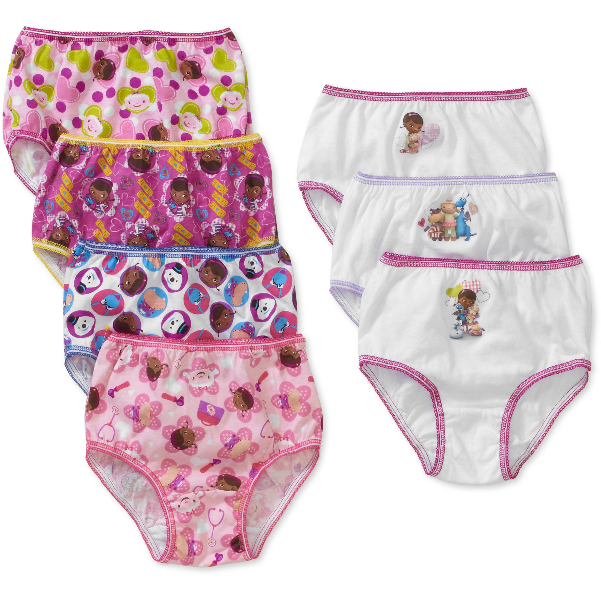 Doc McStuffins Toddler Girls Underwear, 7 Pack