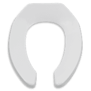 American Standard Elongated Heavy-Duty Commerical Toilet Seat in White