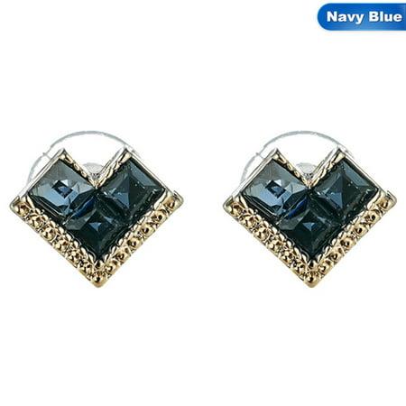 Green Topaz Earring (KABOER Exquisite Earrings Fashion Jewelry Women Ear Studs Natural Green Diamond Heart Shaped Earring)