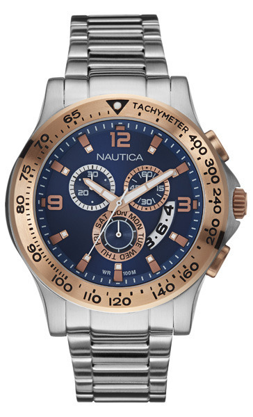 NAUTICA MEN'S WATCH NST 600 CHRONO 45MM by Nautica