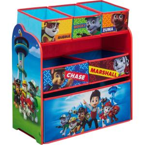 Delta Children PAW Patrol Multi-Bin Toy Organizer Toy Storage Kids Room Adds Character to Any Room Room Decor PATROL by
