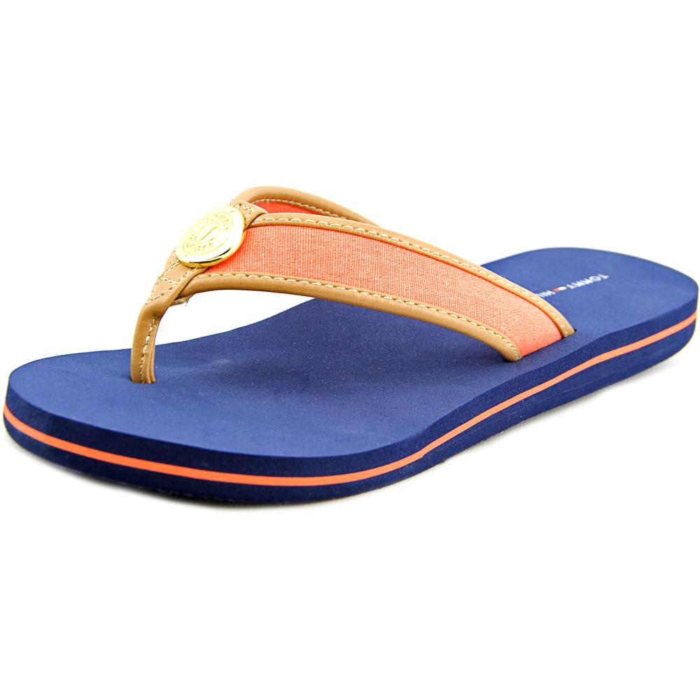Tommy Hilfiger Canal Women  Open Toe Canvas  Thong Sandal