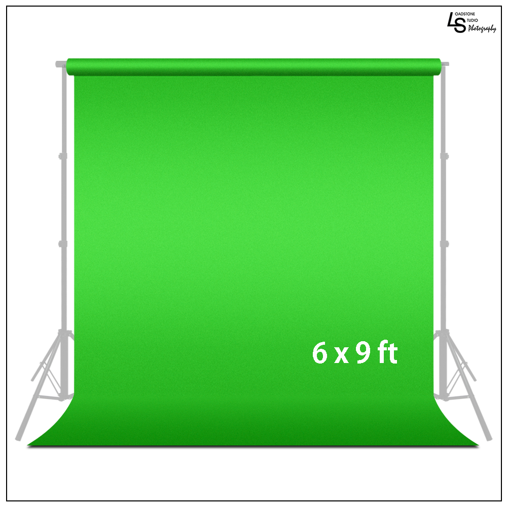 Loadstone Studio 6 ft X 9 ft Green Chromakey Photo Video Photography Studio Fabric Backdrop Background Screen, WMLS1726