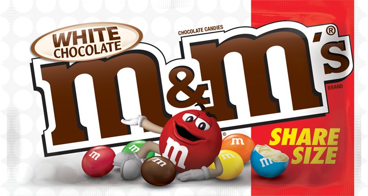 M&M'S White Chocolate Candy, 2.47oz