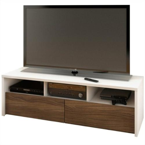 Nexera Liber-T Modular Design Your Own Storage and Entertainment System - 60 in. TV Stand - White and Espresso