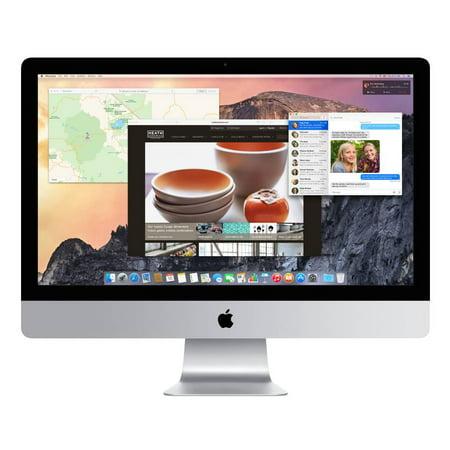 Refurbished Apple A Grade Desktop Computer iMac 27-inch (Retina 5K) 3.5GHZ Quad Core i5 (Late 2014) MF886LL/A 8 GB 1 TB HDD & 128 GB SSD 5120 x 2880 Display Sierra 10.12 Includes Keyboard and Mouse