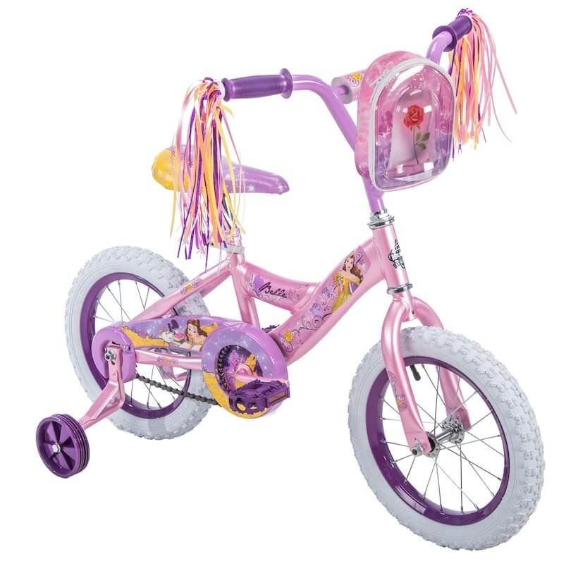 "Disney Princess Belle 14"" Girls' Pink Bike, by Huffy"