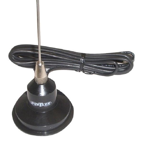 "Hustler RUM150 49"" 100 Watt VHF Magnet Mount Antenna Kit w/ 15' Coax Cable"
