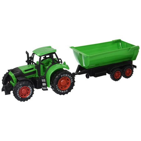 963f074b4 Friction Powered Farm Tractor Trailer Children's Kid's Friction Powered Toy  Truck Playset (Green) Farm Toys, Trucks, Tractors, Play set For Kids, ...