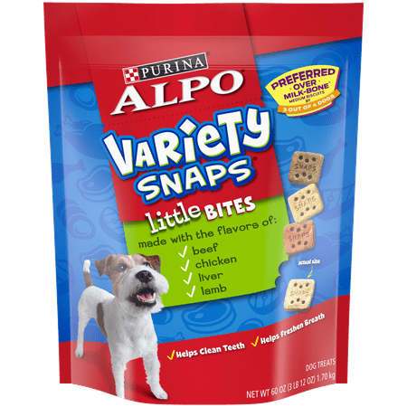 ALPO Variety Snaps Little Bites Dog Treats With Beef Chicken Liver & Lamb Flavors Dog Treats - 60 oz. Pouch - Lamb Dog Costume
