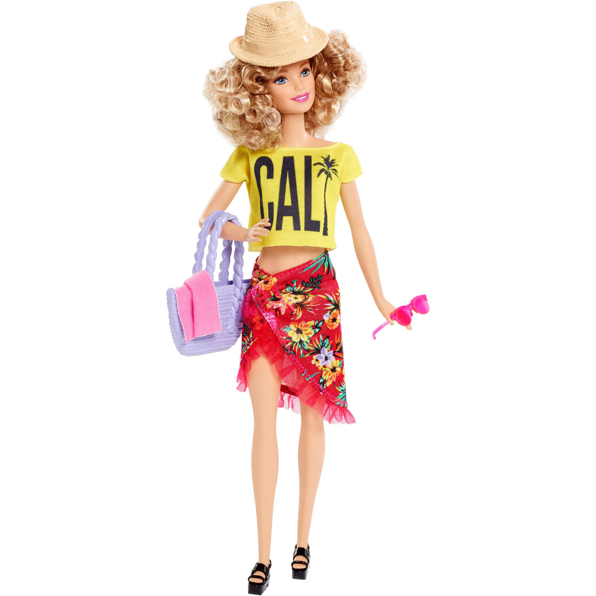 Barbie Style Glam Vacation Doll Pink Crop Tank Top Fashionista Clothing ADD ON