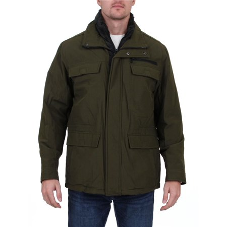 Weatherproof Mens Winter Techno-Cotton Parka Coat Black Polyester Parka