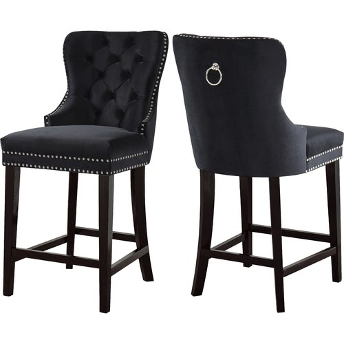 Darby Home Co Costigan Velvet 26 Bar Stool Set Of 2
