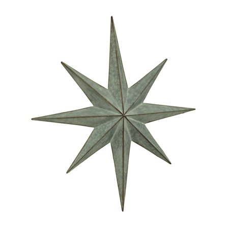 Rustic 8 Pointed Dimensional Metal Star Wall Sculpture