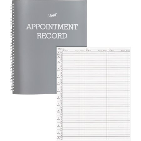 Dome, DOM40977, Undated Spiral Appointment Book, 1 Each, Gray