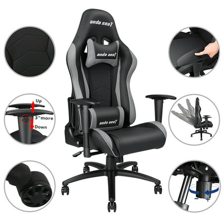 - Anda Seat Racing Gaming Chair Leather Adjustable Recliner Office Seat Color Opt