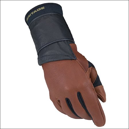 07 SIZE LEFT HAND HERITAGE PRO 8.0 BULL RIDING GLOVE DEER SKIN LEATHER -