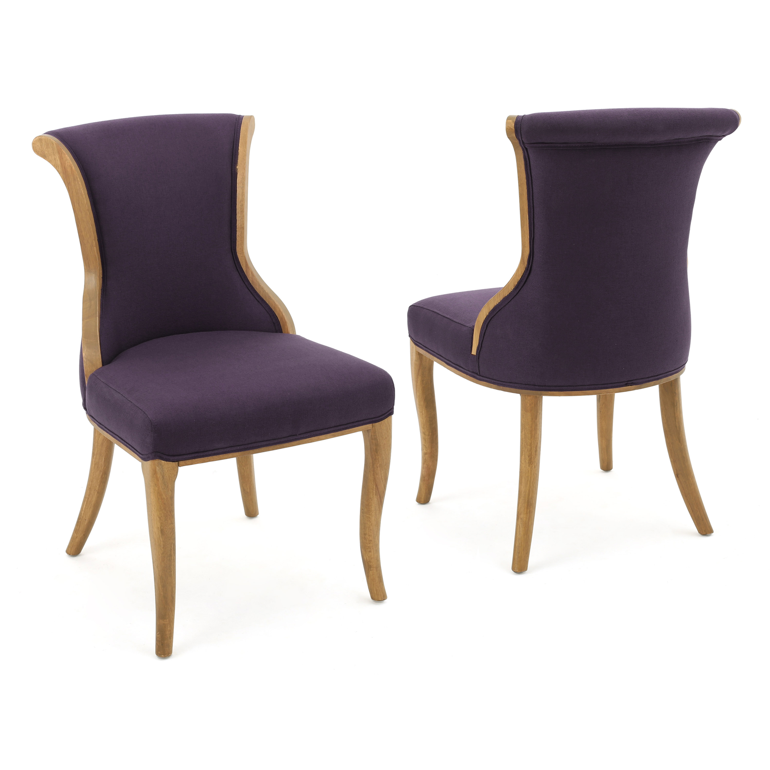 finest selection 78093 3151e Luther Fabric Dining Chair, Set of 2, Plum