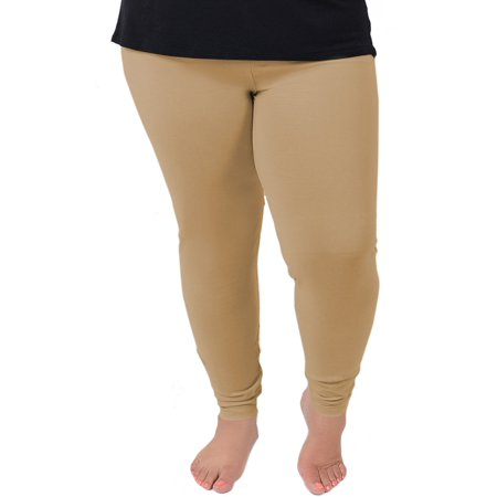 Women's Cotton Leggings - X-Large Adult (12-14) / Beige (Brand Name Leggings)